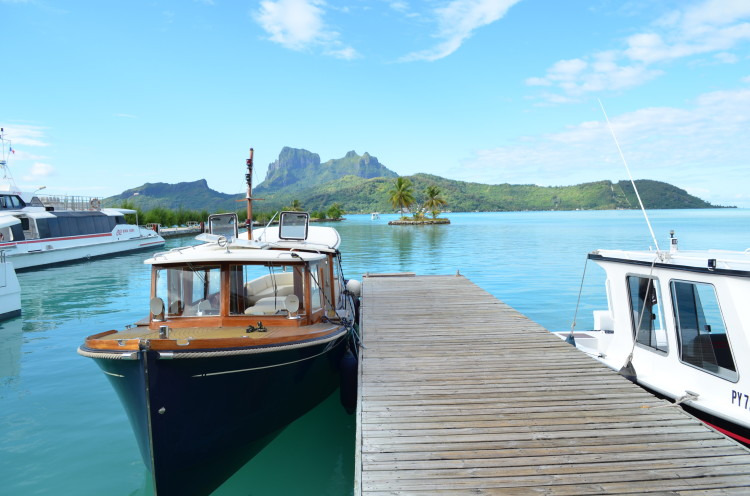 Boat at dock in Bora Bora