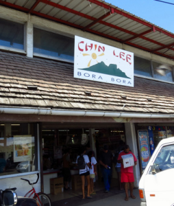 Chin Lee Supermarket in Bora Bora Tahiti